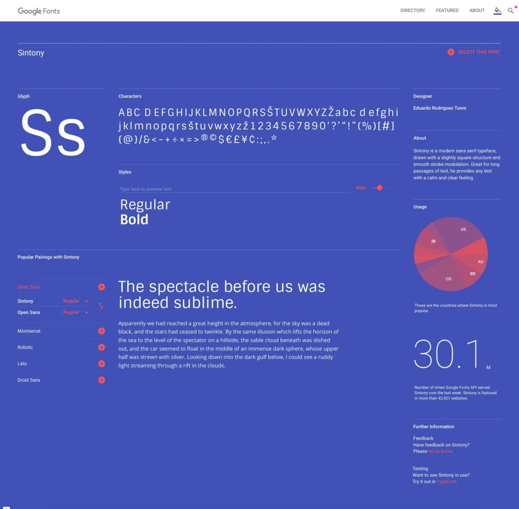 Rediseño de la Web de Google Fonts